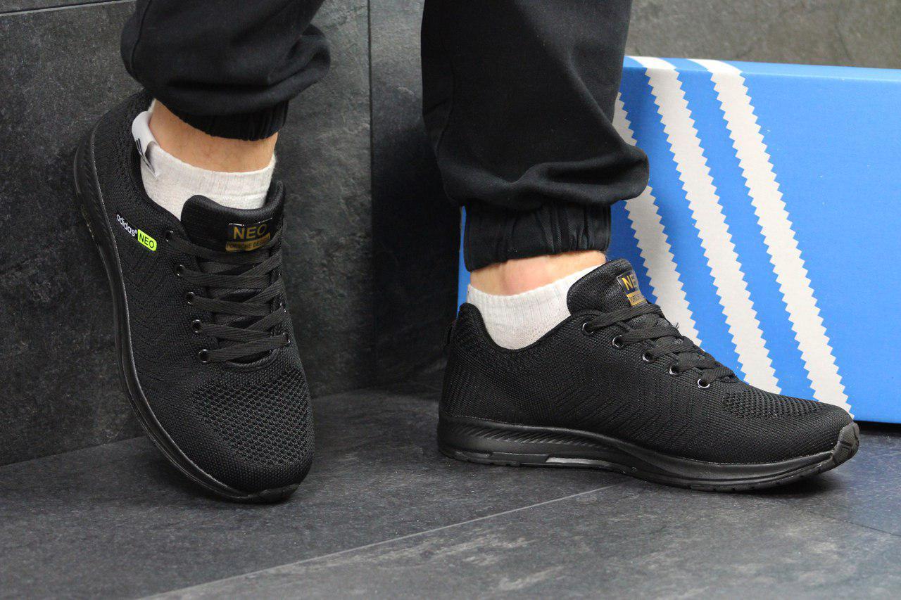 Мужские кроссовки Adidas Neo кроссовки адидас черные - Сетка,подошва  пена,р 41 a6a0eecd21b