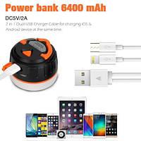 Фонарик/POWERBANK Lanktoo IP65 2-в-1 аккумуляторный 6400 mAh, на магните, фото 1