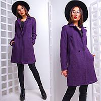Женское демисезонное пальто на одной пуговице 42-44 р