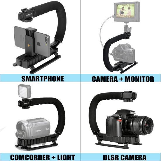 Монопод Fantaseal M-LPC 4-in-1 (Смартфон + экшнкамера + видеокамера + DSLR стабилизатор камеры)