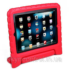 MoKo Kids Shock Proof Convertible Handle Light Weight Super Protective Stand Cover Red