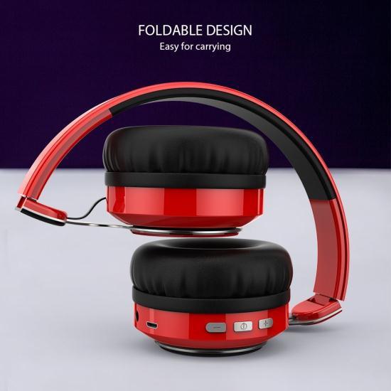 Наушники с микрофоном NUBWO S8 RED Bluetooth
