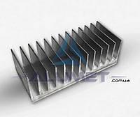 Радиаторный профиль алюминиевый 122х26мм без покрытия