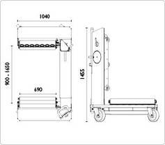 Тележка для транспортировки колес сельхоз и строительной техники 1500 кг, AC Hydraulic, WT1500NT, фото 3