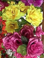 Искусственные цветы Разные цвета в упаковке Букеты Розы, фото 1