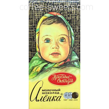 Шоколад Красный Октябрь Аленка молочный 60г, фото 2
