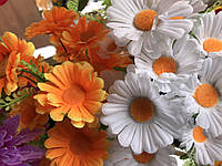 Букеты ромашек Искусственные цветы Разные цвета в упаковке , фото 1