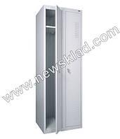 Металева шафа для одягу підсилена ШОП-400/2, фото 1