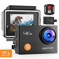 Экшин-камера водонепроницаемая  APEMAN A77, 4K, Wi-Fi,  Ultra Full HD Sport
