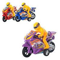 Мотоцикл 658  инер-й, фигурка, 3 цвета, в кульке, 17-12,5-6см