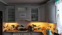 Классическая кухня с фасадами мдф в пвх Белая структура