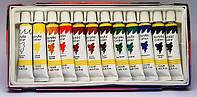 Краски акриловые 12 цветов 12мл. (на водной