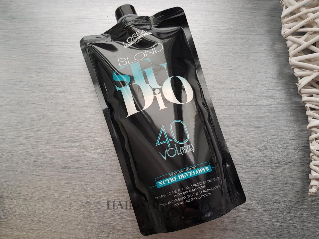 Питательный кремовый проявитель для осветленных волос 12% - B-Studio Nutri Developer 1000 ml