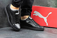 Мужские кроссовки Puma Suede   пума черные - Замша и кожа натуральные,подошва резина ,размеры:40-45 Харьков, фото 1