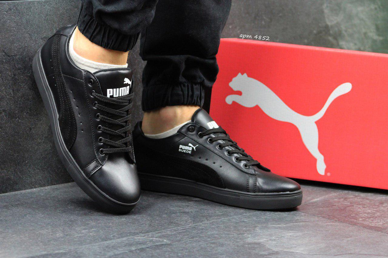 Мужские кроссовки Puma Suede пума черные - Замша и кожа натуральные,подошва  резина ,размеры 1cdfb04ba6f