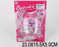 Аксессуары для девочек 802B корона, серьги, на планшетке 23*15,5*5см