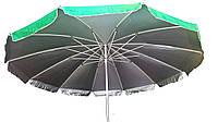 Зонт торговый 3,5м круглый с клапаном и серебряным напылением(12 толстых спиц) садовый , фото 1