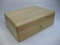 Деревянная шкатулка с ключом, 25*19*9 см
