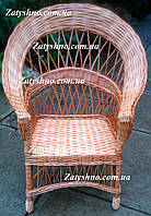 Кресло из лозы и бука, ручная работа