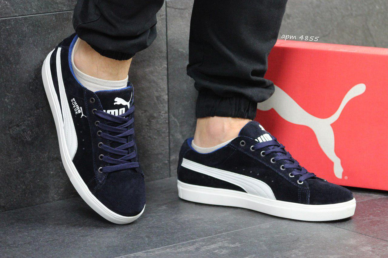 a9aa9e906ddf Мужские кроссовки Puma Suede пума темно-синие - Замша натуральная,подошва  резина ,размеры
