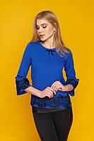 Елегантна жіноча блуза Крісті електрик розмір 44,46,48,50,52