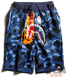 Шорты Bape Tiger Face Blue Camo (ориг.бирка)