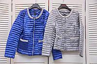 Демисезонные курточки с жемчугом карманы на молнии Италия
