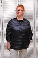 Черная Демисезонная курточка на кнопках с жемчугом и карманами Италия