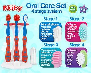 Набор зубных  щеток Nuby ( первые зубные щеточки)