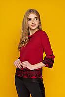 Елегантна жіноча блуза Крісті червоний розмір 44,46,48,50,52