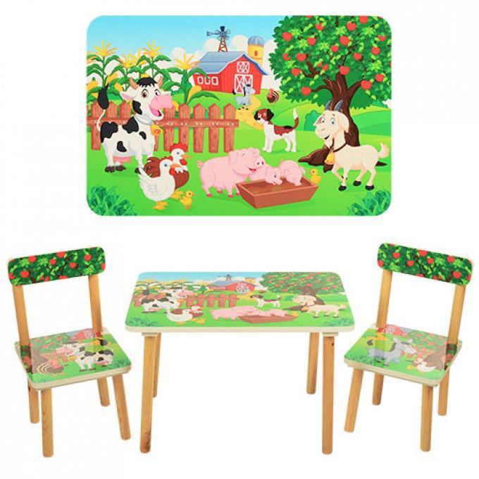 Столик со стульчиками Vivast Ферма (501-10) деревянный