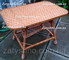 Стол плетеный прямоугольный
