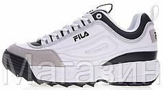 Мужские кроссовки Fila Disruptor 2 Фила Дисраптор 2 белые
