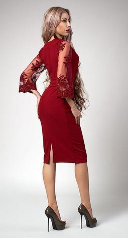 """Платье  """"Кристина"""" размеры 54 электрик, фото 2"""