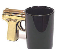 Чашка Пистолет (с золотой ручкой)