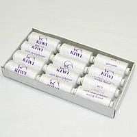 Нитки швейные белые 40/2 400ярдов Kiwi (киви)