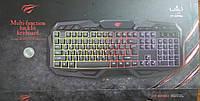 Клавиатура с цветной подсветкой мультимедийная Havit HV-KB406L, USB