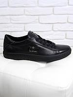 Мужские кожаные кеды PHILIPP PLEIN , качество,черные, фото 1
