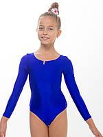 Купальник гимнастический из бифлекса СИНИЙ ( рост 104 - 140см)