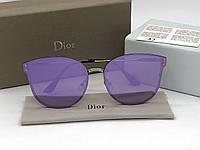 Женские зеркальные солнцезащитные очки (1559) фиолетовые, фото 1