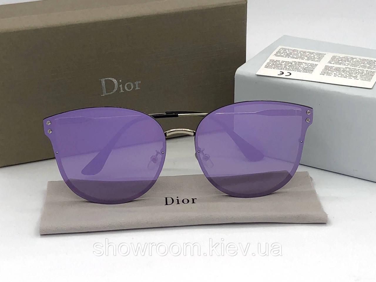 Женские брендовые солнцезащитные очки (1559) purple