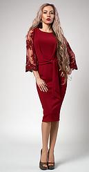 """Платье  """"Кристина"""" бордового цвета"""