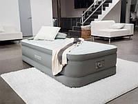 Односпальная надувная кровать Intex + встроенный электронасос 220V 99x191x46 см (64472)