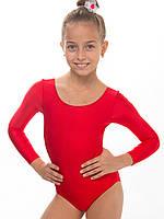 Купальник для танцев, хореографии и гимнастики КРАСНЫЙ рост 104 - 140см