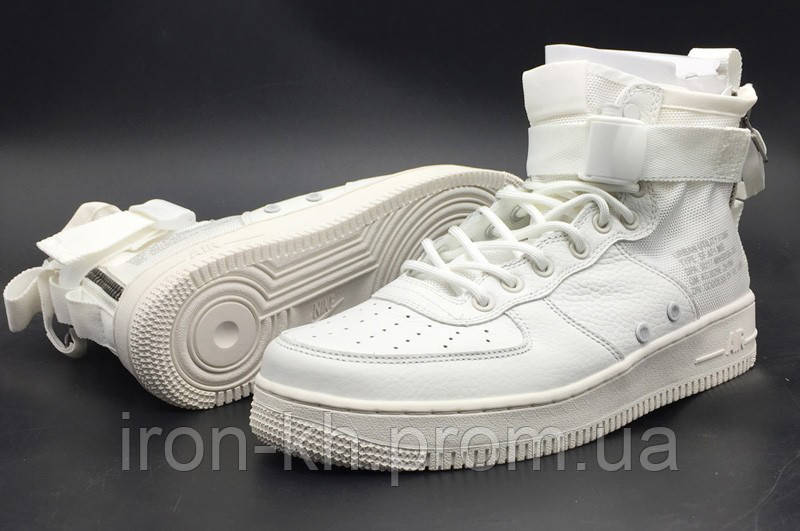 4d489438 Кроссовки Женские Nike Special Field(SF AF1)Air Force 1 Mid White - Интернет