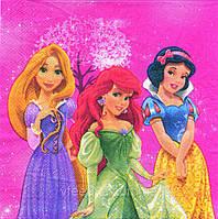 Салфетки праздничные Принцессы Дисней 10 штук