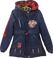 """Куртка джинсовая подростковая демисезонная """"NY"""" #10-3 для мальчиков. 8-9 лет. Оптом."""