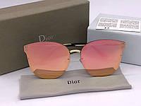 Женские солнцезащитные зеркальные очки  (1559) розовые, фото 1