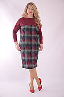 Платье бордо кимано джерси балон летучая мышь 48,50,52,54 , Пл 177-2 бордо .