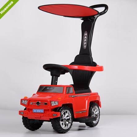 Машинка Каталка с козырьком M 3597A-3(2) Mercedes, красный ***